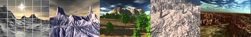 3d terrain animations in