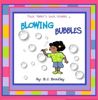 Tillie Tuppet is blowing bubbles