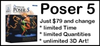 Poser 5 now only $79